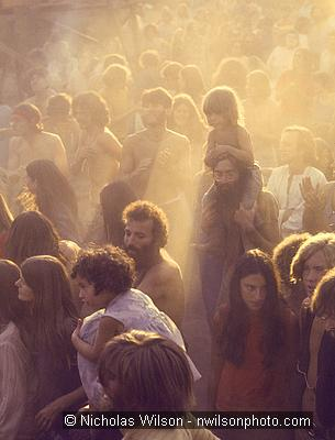 Dusty boogie crowd at Bo's Land, Sep. 1970