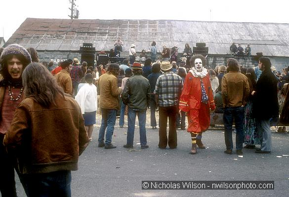 Fort Bragg Co-op Street Fair 1972, Dr. Harold Robinson in clown suit.