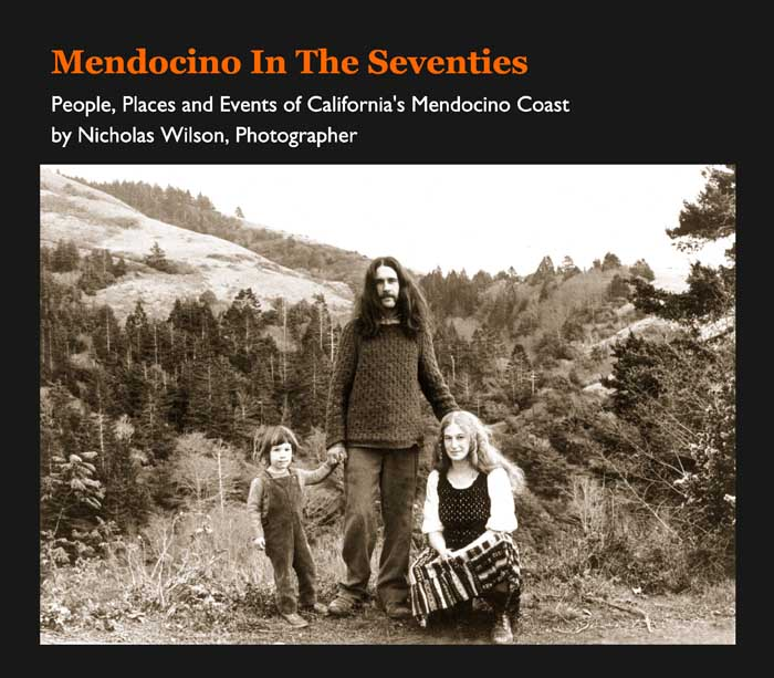 Mendocino in the Seventies photo book cover
